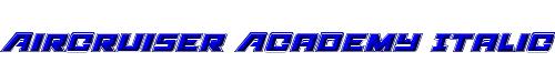 Aircruiser Academy Italic