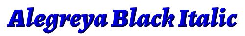 Alegreya Black Italic