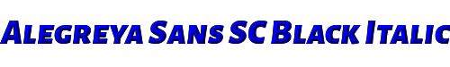 Alegreya Sans SC Black Italic