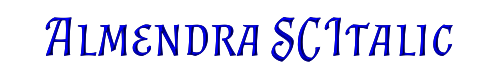Almendra SC Italic