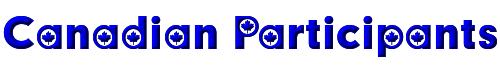 Canadian Participants