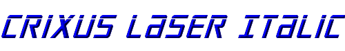 Crixus Laser Italic