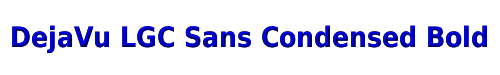 DejaVu LGC Sans Condensed Bold