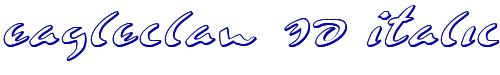 Eagleclaw 3D Italic