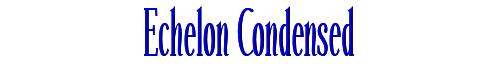Echelon Condensed