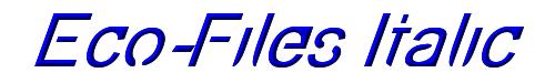 Eco-Files Italic