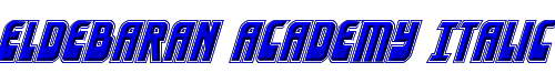 Eldebaran Academy Italic