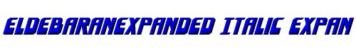EldebaranExpanded Italic Expanded Italic