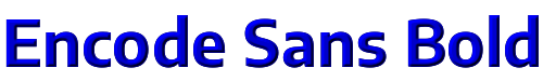 Encode Sans Bold