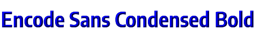 Encode Sans Condensed Bold