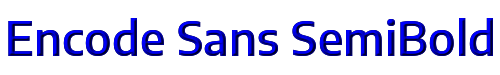 Encode Sans SemiBold