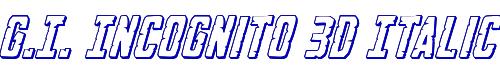G.I. Incognito 3D Italic