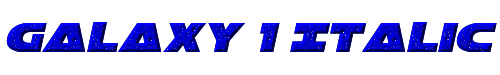 Galaxy 1 Italic