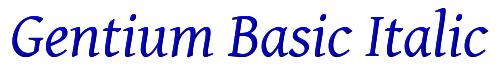 Gentium Basic Italic