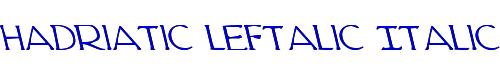 Hadriatic Leftalic Italic
