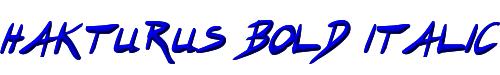 Hakturus Bold Italic