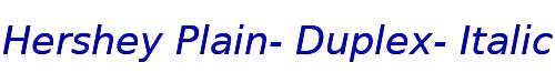 Hershey Plain- Duplex- Italic