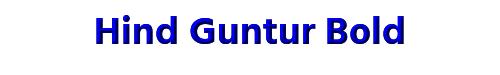 Hind Guntur Bold