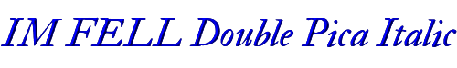 IM FELL Double Pica Italic