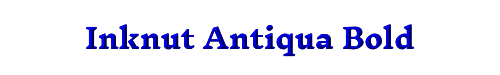 Inknut Antiqua Bold