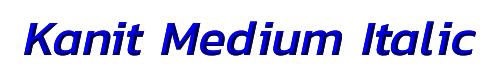 Kanit Medium Italic