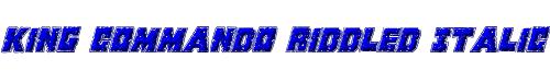 King Commando Riddled Italic