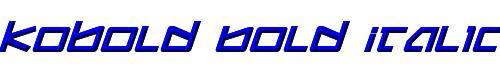 Kobold Bold Italic