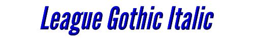 League Gothic Italic