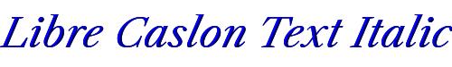 Libre Caslon Text Italic