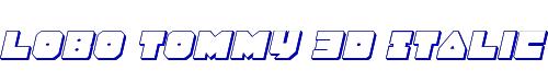 Lobo Tommy 3D Italic