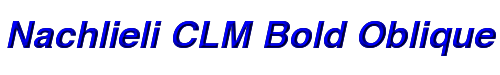 Nachlieli CLM Bold Oblique