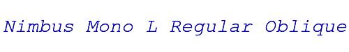 Nimbus Mono L Regular Oblique