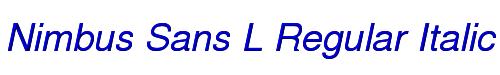 Nimbus Sans L Regular Italic