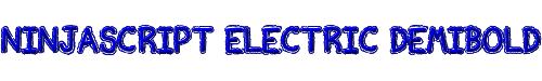 Ninjascript Electric DemiBold