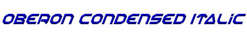 Oberon Condensed Italic
