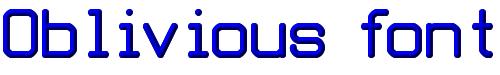 Oblivious font