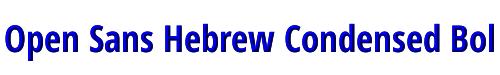 Open Sans Hebrew Condensed Bold