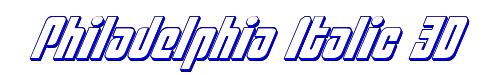 Philadelphia Italic 3D