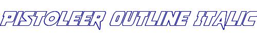 Pistoleer Outline Italic