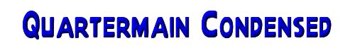 Quartermain Condensed