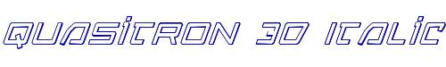 Quasitron 3D Italic