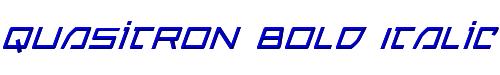 Quasitron Bold Italic