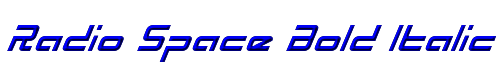 Radio Space Bold Italic