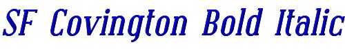 SF Covington Bold Italic