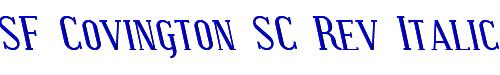 SF Covington SC Rev Italic