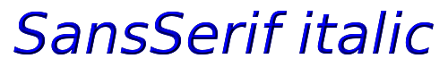 SansSerif italic