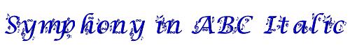 Symphony in ABC Italic