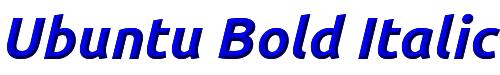 Ubuntu Bold Italic