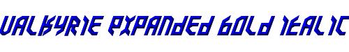 Valkyrie Expanded Bold Italic
