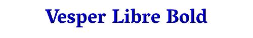 Vesper Libre Bold